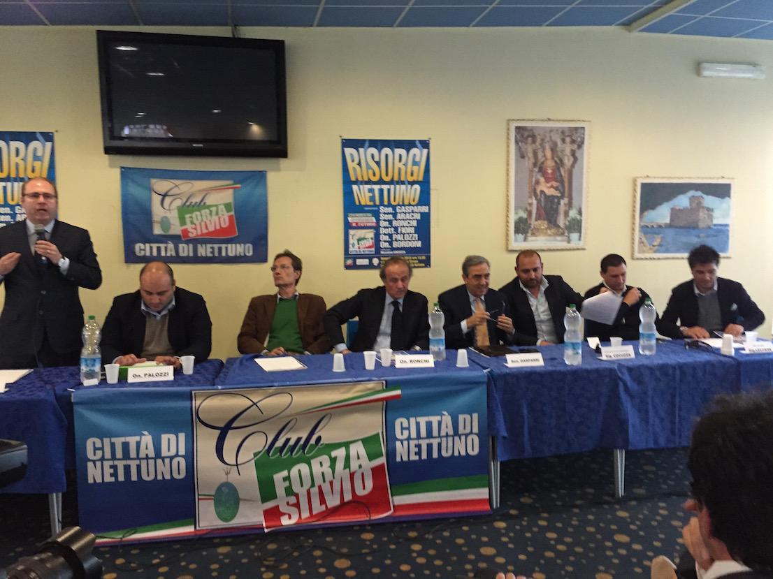 Nettuno i big di forza italia a raccolta alle sirene for Senatori di forza italia